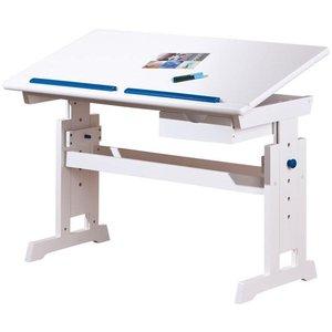 Gemma skrivbord - Vit/rosa/blå