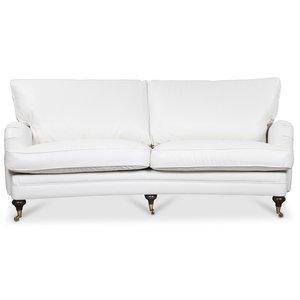 Howard London Premium 4-sits svängd soffa - Vitt PU