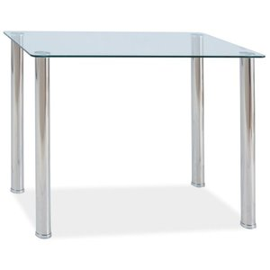 Oxberg matbord 100 cm - Glas/metall