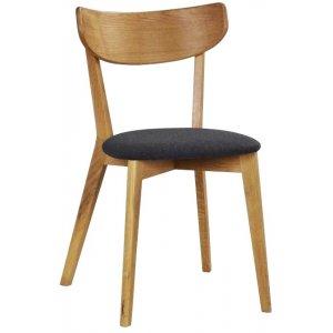 Hannah stol - Ek/mörkgrå