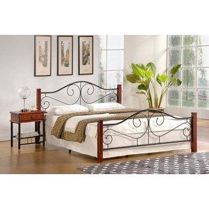 Litzy säng - antik körsbär/svart