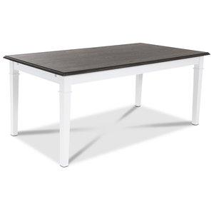 Ramnäs matbord 140 cm - Vit/Brunoljad ek