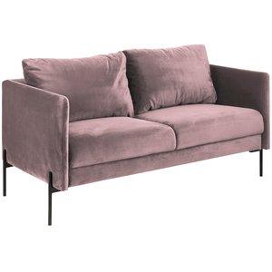Livorna 2,5-sits soffa - Ljusrosa velour