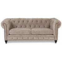 Chesterfield Montgomery 2-sits soffa - Beige sammet