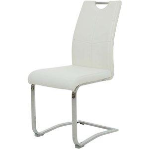 Bjärs stol - Vit/krom