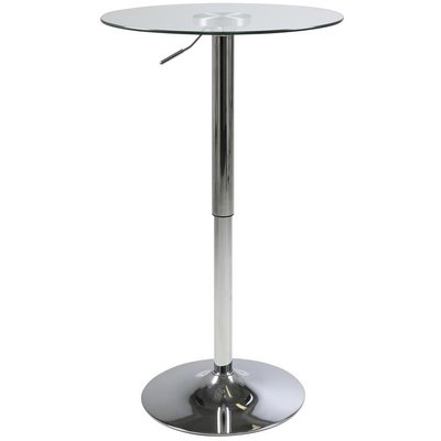 Burbank barbord (Höj och sänkbart) - Glas/krom