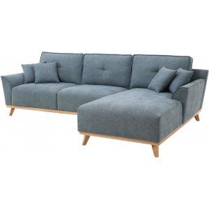 Classic 2-sits soffa med Divan - Ljus blå