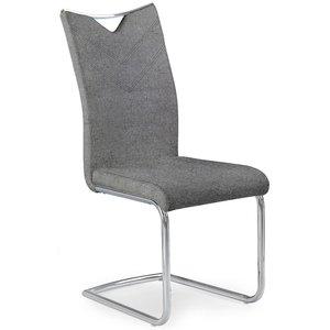 Renita matstol - Grå (Tyg) / Krom