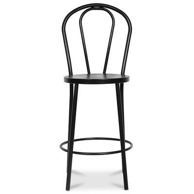 Barstol No18 (Hög rygg) - Svart