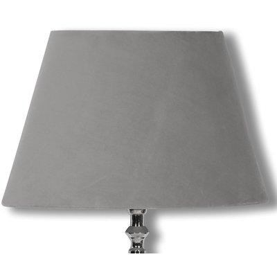 Velvet lampskärm 23 cm - Grå