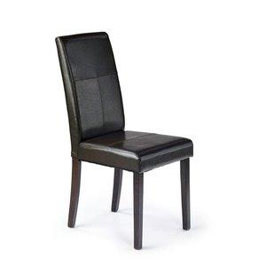 Emanuel matstol - Mörkbrun PU