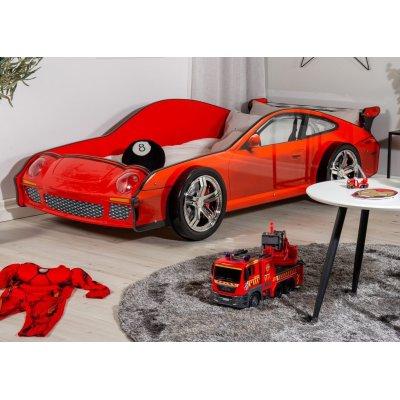 Barnsäng sportbil 911 med belysning - Röd
