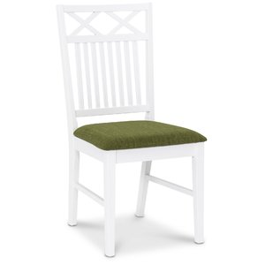 Herrgård Ramnäs matstol - Vit / Grön