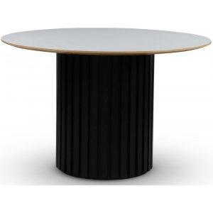 Sumo matbord Ø118 - Svartbets / Perstorp virrvarr ljusgrå