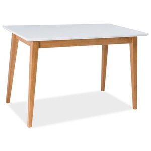 Kamryn matbord 120 cm - Vit/bok