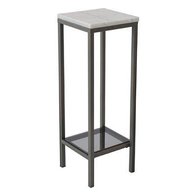 Ascot piedestal - 80 cm (vit & grå)