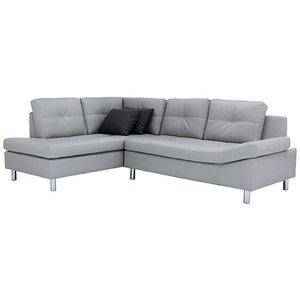 Horna L-soffa divan höger - Grå