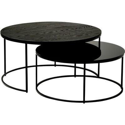 Muran soffbord - Fanerad asp/svart