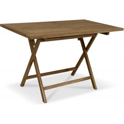 Grunnebo vikbart matbord i teak - 140x80 cm