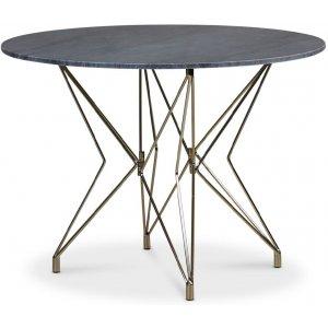 Zoo matbord Ø105 cm - Mässing / Grå Marmor