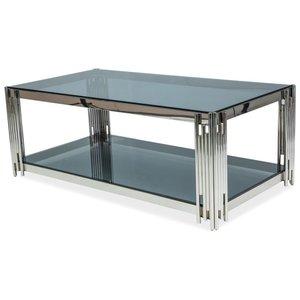 Bourne soffbord - Krom/svart glas