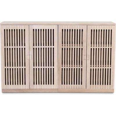 Level sideboard med dörrar i ribbor B140 cm - Whitewash