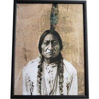 Tavla Sitting Bull - Svart ram