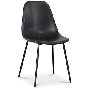 Bjurträsk stol - Svart PU