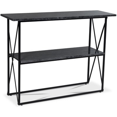 Paladium konsolbord - Svart / Grå marmor