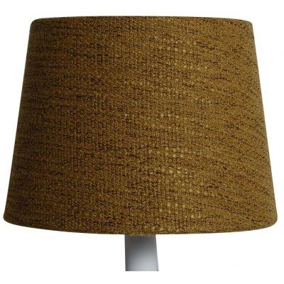 Rund lampskärm 16x20x15 cm - Guldbrun (grovt linne)
