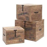 Tessa förvaringsboxar (3 st)