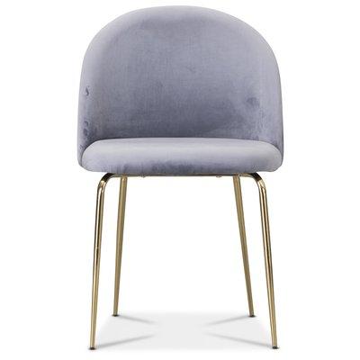 Tiffany velvet stol - Grå/Mässing