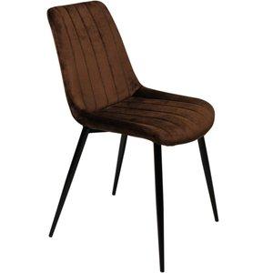 Gnesta stol - Brun sammet/svart