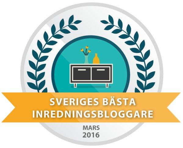 Mars 2016 - 10 bästa inredningsbloggarna