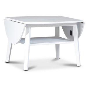 Beatrix soffbord med fällklaffar - Vit