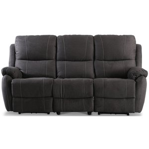 Enjoy Hollywood reclinersoffa - 3-sits (el) i antracit microfibertyg