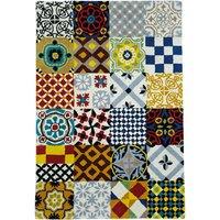 Tuftad matta - Morocco - Kakelmönster