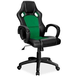 Braelynn datorstol - Svart/grön