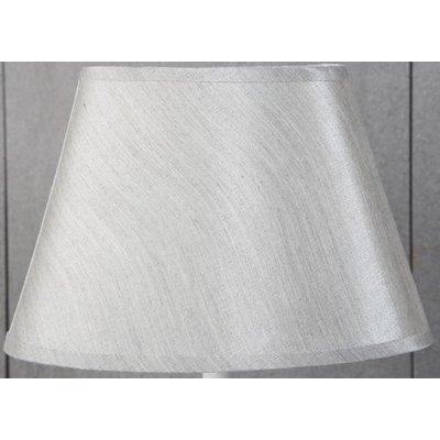 Siden oval lampskärm 25 cm - Grå