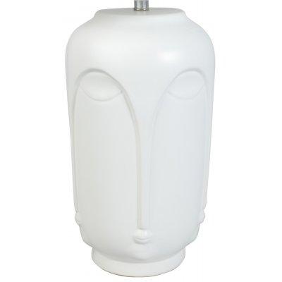 Bordslampa ansikte H43 cm - Vit