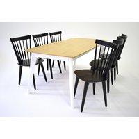 Sarek matgrupp - Bord inklusive 6 st stolar - Ek / svart