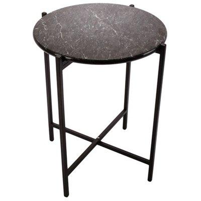 Lampbord Steel - Svart Marmor