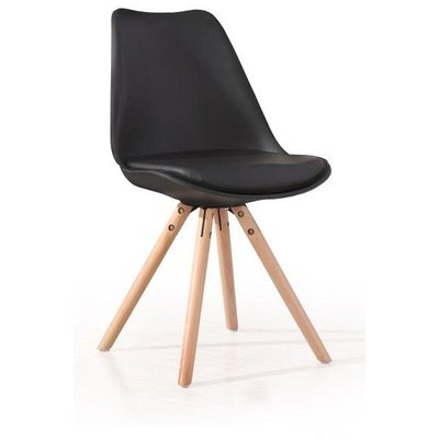 Shello stol - Svart/Ek - Matstol